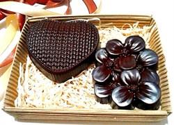 """Набор шоколада на меду с орехами и ягодами """"Любовь и нежность"""", 160 гр. - фото 5338"""