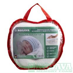 Анатомическая подушка Rosava Kids  для детей от 0 до 1,5 лет 28 х 21.5 см 3 см - фото 5458