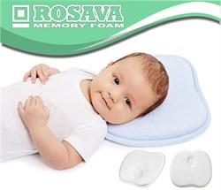 Анатомическая подушка Rosava Kids  для детей от 0 до 1,5 лет 28 х 21.5 см 3 см - фото 5461