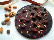 Шоколад на меду с орехами и ягодами, круглый 150 гр.